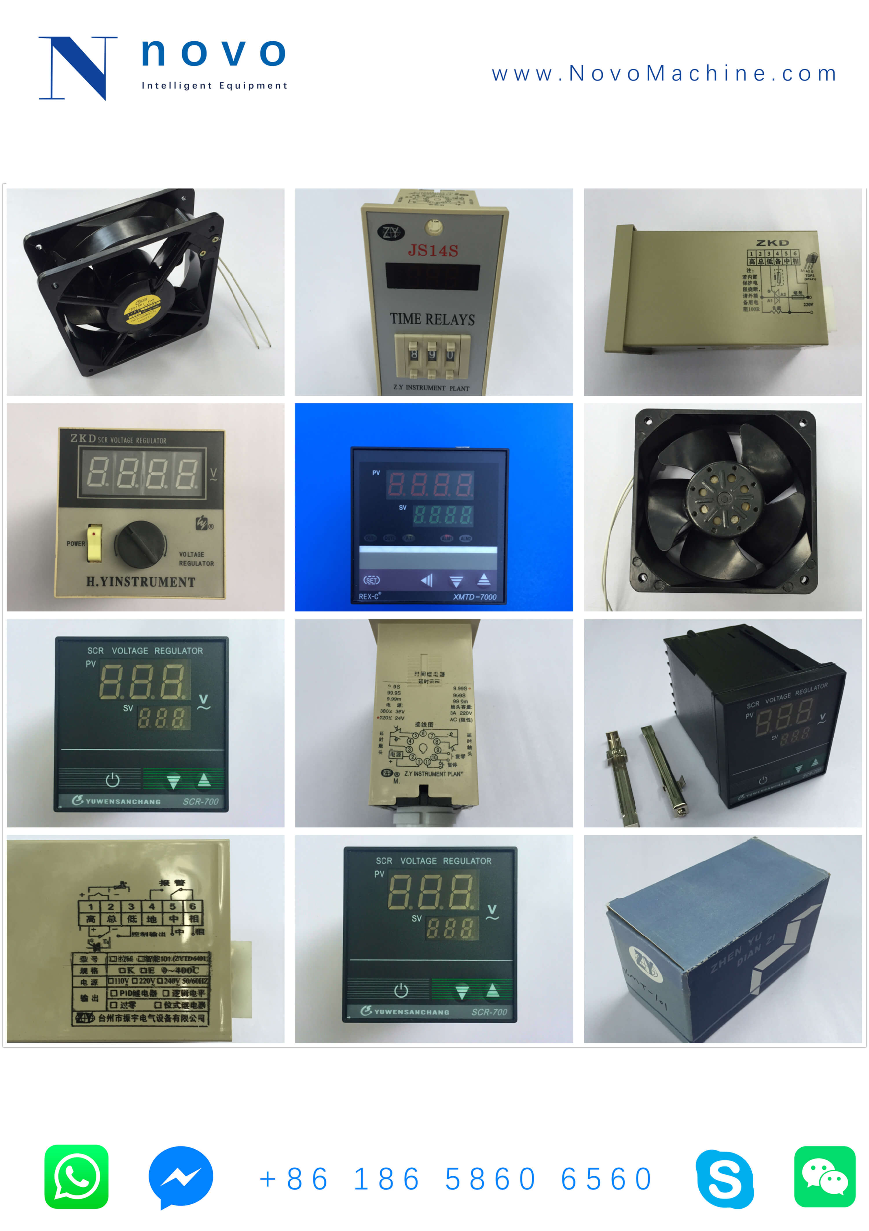oven spare parts for Novo PET bottle blowing molding machine