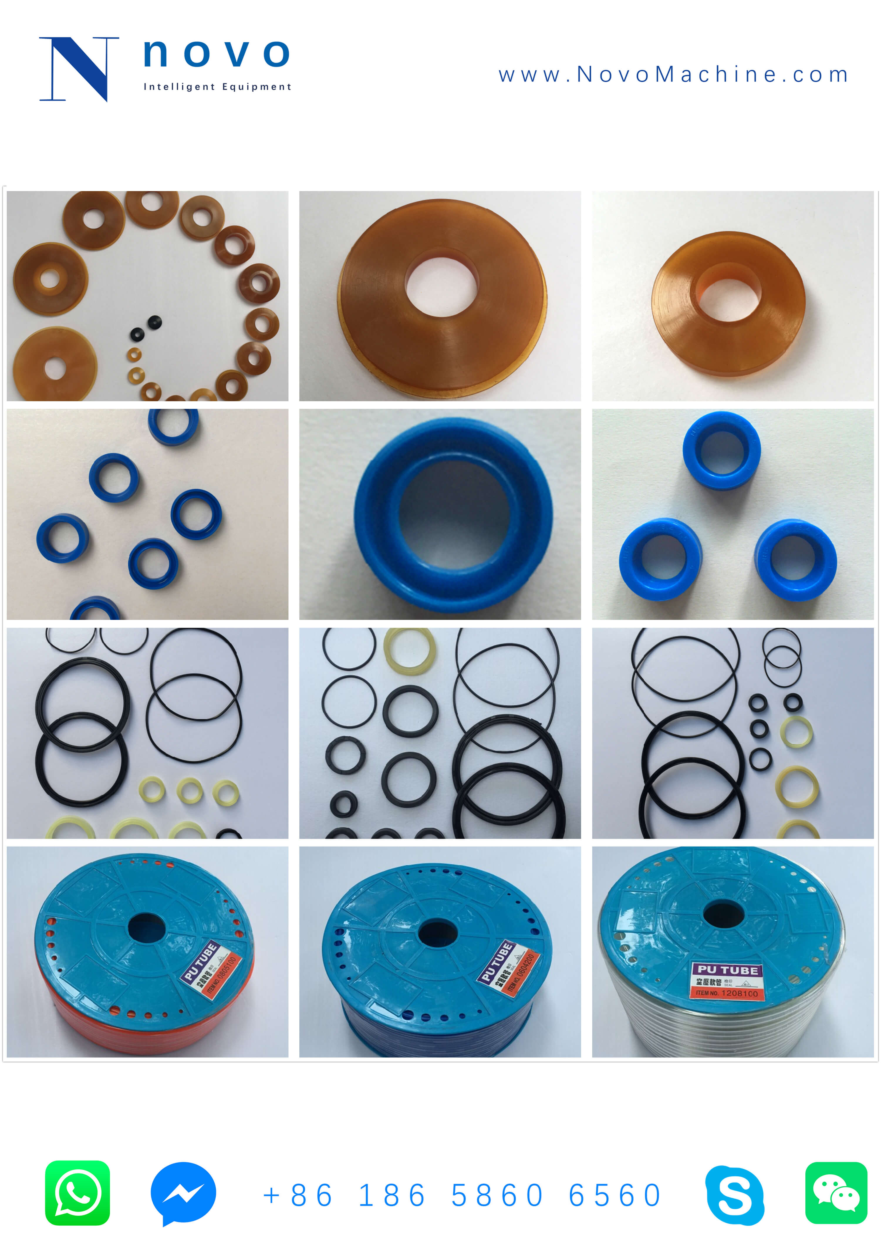 sealing and gas pipe spare parts for Novo PET bottle blowing molding machine